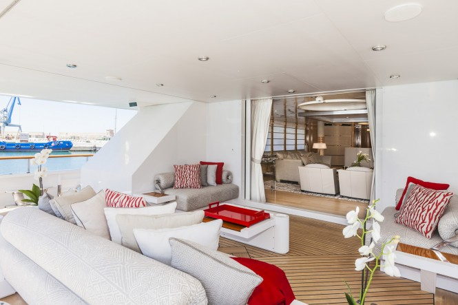 Abeking and Rasmussen superyacht Amore Mio 2 (ex Sea Jewel) refitted by FM - Architettura d'Interni