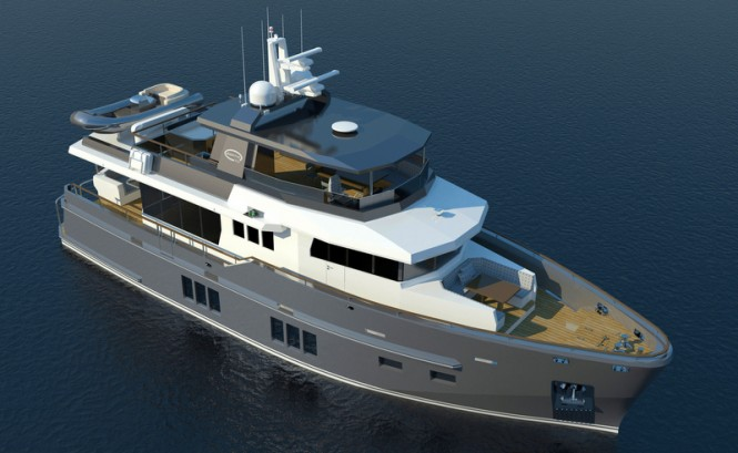 Bering 75 Yacht from above