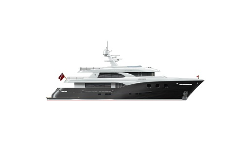 Boksa 38M superyacht design - Black Hull