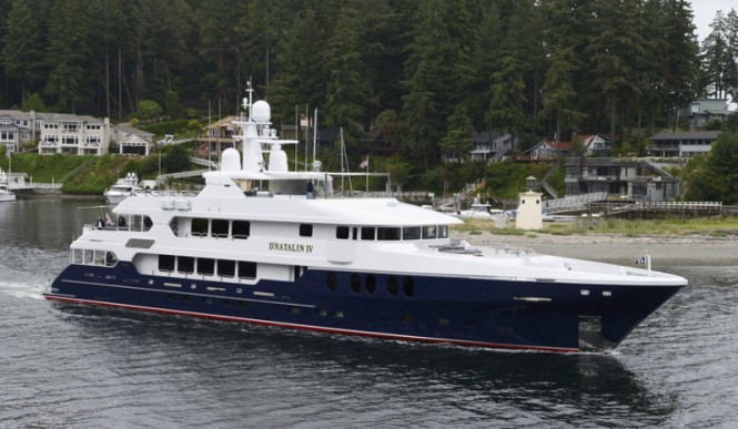 Christensen super yacht D'Natalin IV (Project C-2014) in Gig Harbour, Washington