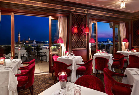 Dining in Venice on a Italy Yacht Charter - Terrazza Danieli