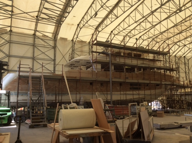 Dolce Vita yacht under construction