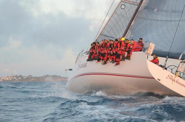 Doyle luxury yacht Shockwave under sail