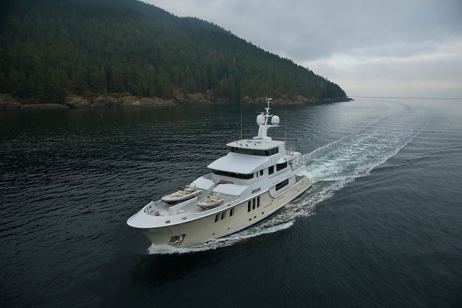 First Nordhavn 120 superyacht AURORA underway