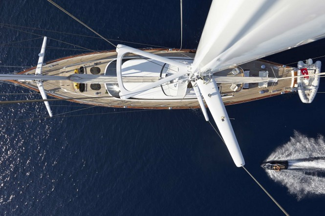 Glorious Yacht from above