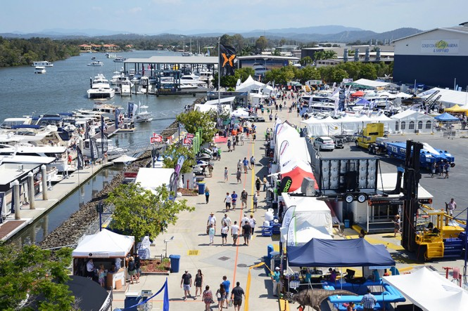 Gold Coast International Marine Expo 2013 from above