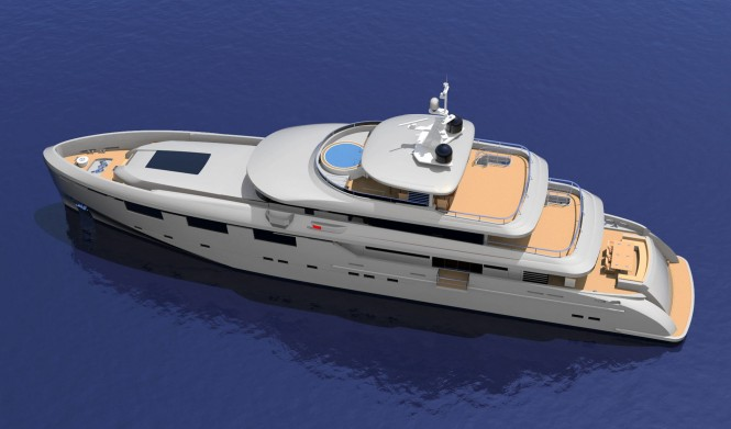 Heysea 50M Yacht - top view
