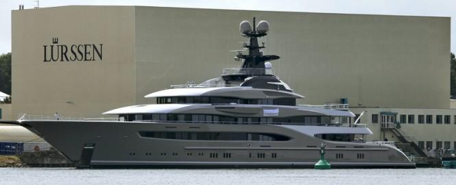 Luxury mega yacht Kismet - Photo by Carl Groll