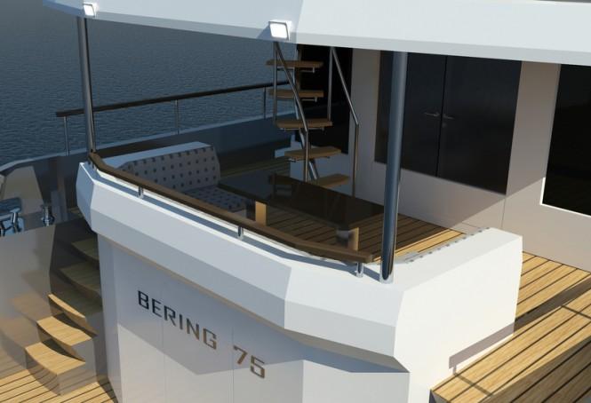 Luxury motor yacht Bering 75