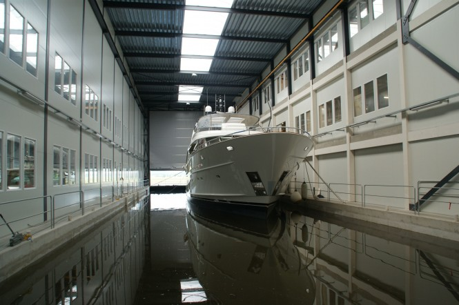Luxury motor yacht YN 1391 by Mulder at launch