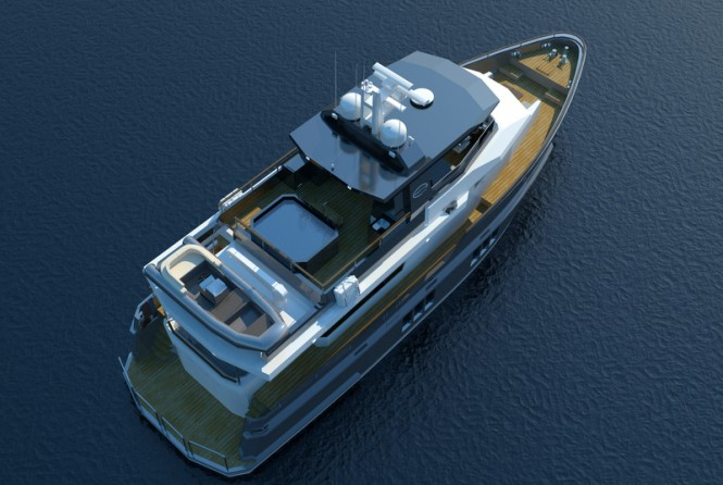 Luxury yacht Bering 75 - Top View