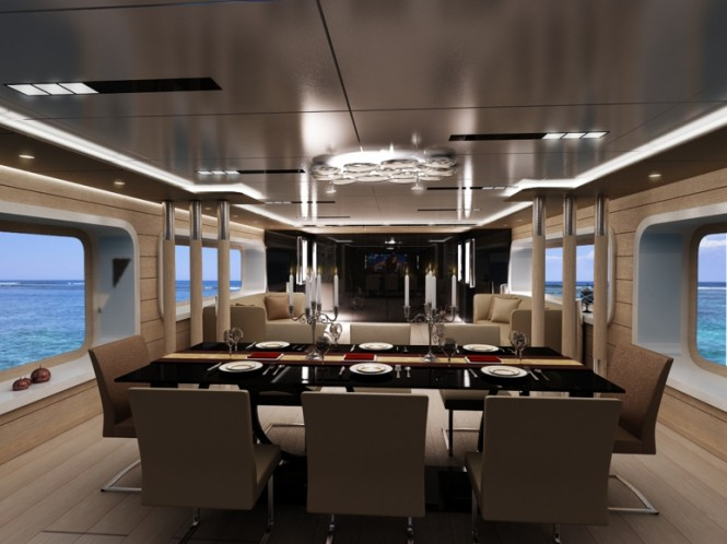 Luxury yacht NB 89 - Dining