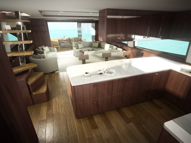 Luxury yacht Viking 75 - Galley