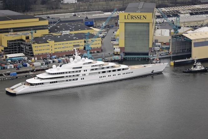 Mega yacht AZZAM by Lurssen - Photo by Klaus Jordan