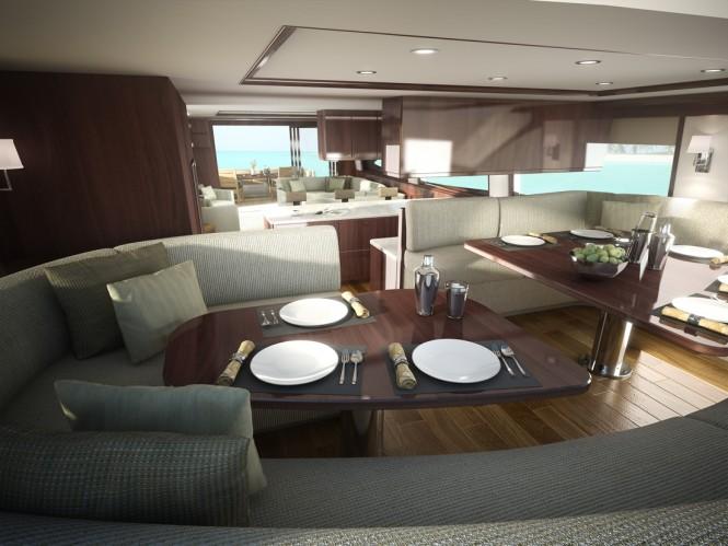 Motor yacht Viking 75 - Dining