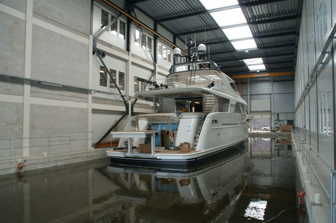 Mulder 98 Flybridge superyacht YN 1391 - aft view