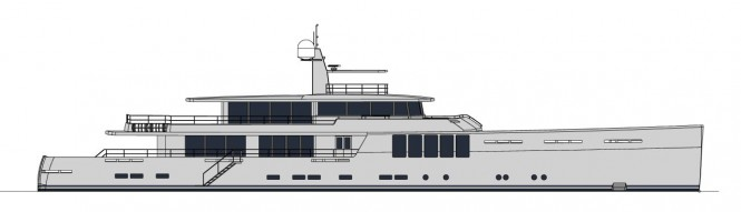New 164' JFA explorer yacht project - Profile