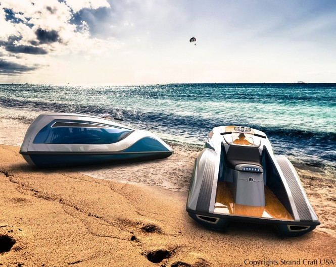 New personal watercrafts for luxury yachts 'V8 Wet Rod' by Strand Craft