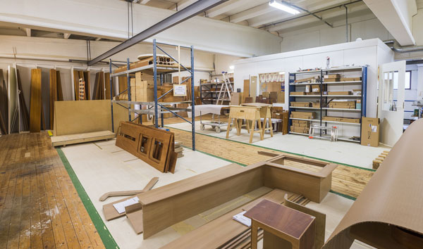 """Organized """"chaos"""" inside Nautor's Swan joinery in Kronoby, Finland. Every piece has its own place, every tool belongs somewhere, every hand knows exactly where to go at any given time."""