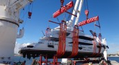 Peters & May loading a luxury motor yacht