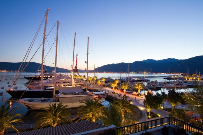 Porto Montenegro - a luxurious Mediterranean yacht holiday location, positioned in Montenegro