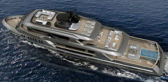 Poseidon yacht concept from above