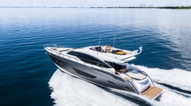 Princess S72 Yacht - aft view - Image courtesy of Princess Yachts International plc