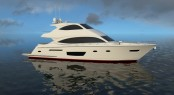 Rendering of luxury motor yacht Viking 75 by Viking Yachts
