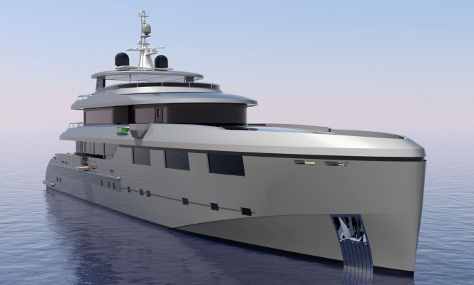 Rendering of the new Heysea 50M superyacht