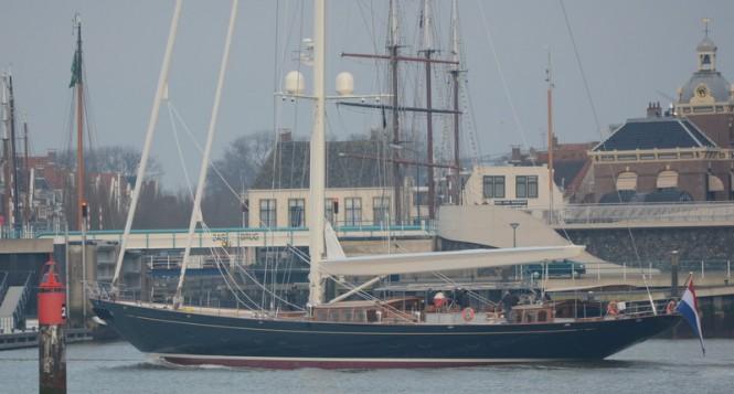 Royal Huisman superyacht WISP - Photo credit to Ruud Bergers