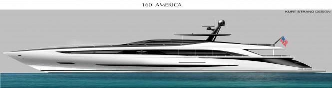 SC 160 super yacht America concept