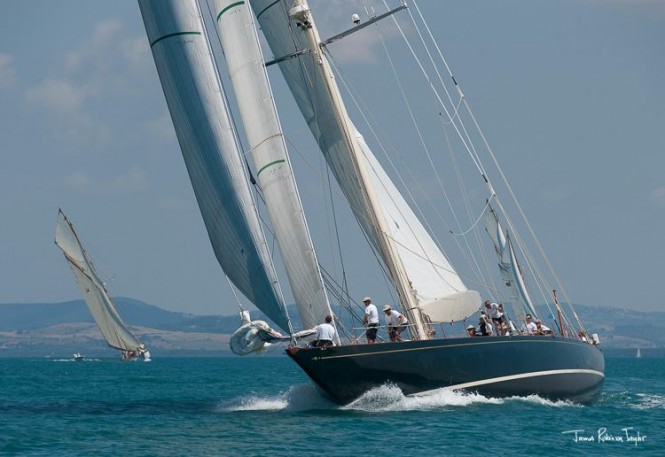 Shamrock V Yacht at the 2014 Argentario Sailing Week - Photo by James Robinson Taylor