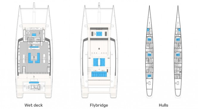 Sunreef 156 ULTIMATE superyacht - Layout
