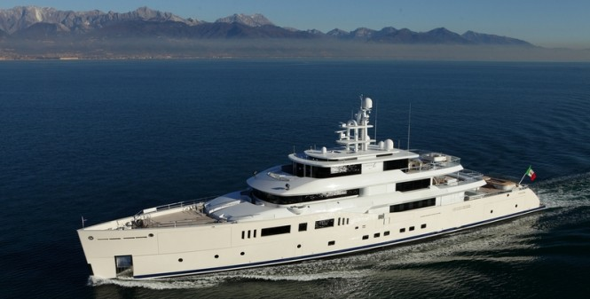 Superyacht Grace E from above