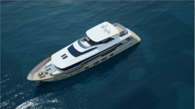 Superyacht NB88 from above