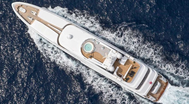 Superyacht Turquoise with interior refit by H2 Yacht Design