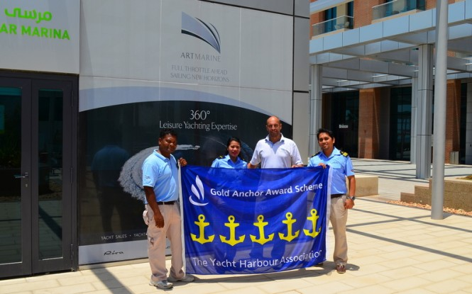 TYHA's 5 Gold Anchor Award for ART Marine's Al Bandar Marina