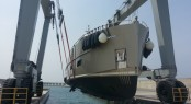 The 300-ton travel lift at Karpaz Gate Marina