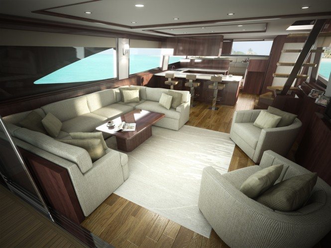 Viking 75 Yacht - Interior