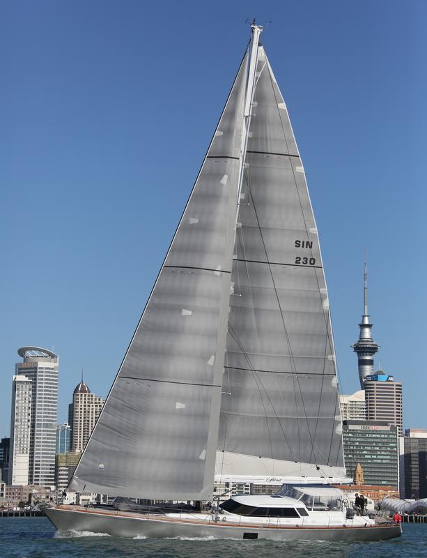 Yachting Developments-refitted Swan 90 superyacht Spirit under sail