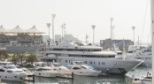 Yas Marina positioned in the beautiful Middle East yacht holiday location - Abu Dhabi