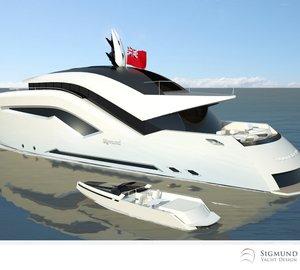 Latest 35m motor yacht ULFBERHT concept by Sigmund Yacht Design