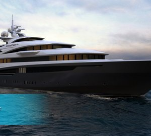 84m Oceanco motor yacht WHITE STAR concept (Project DP027) designed by Armin Koren from Venetian Design