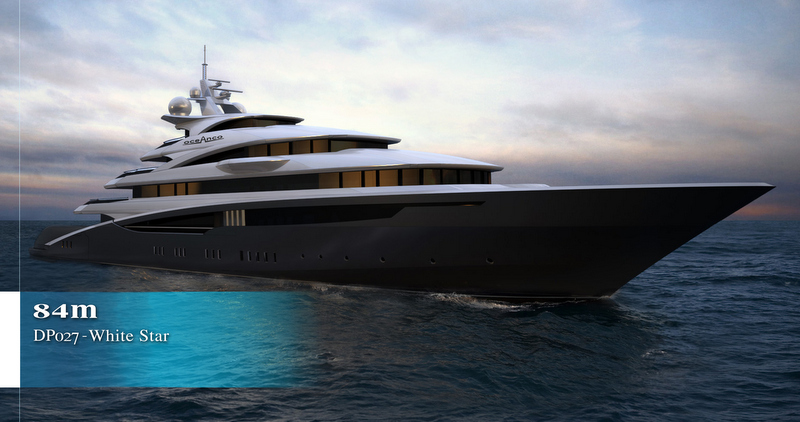 Venetian Design 84m oceanco mega yacht white star concept designedvenetian