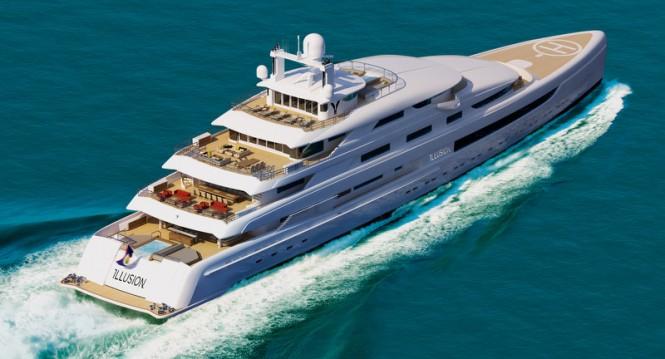 88,8m mega yacht Illusion by Pride Mega Yachts