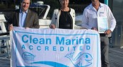 Caption L to R  Keith Allardice, Helen Motteram and John Hogan at Sanctuary Cove Marina