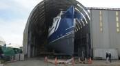 Damen shadow support yacht Umbra at Oceania Marine's North Shipyard