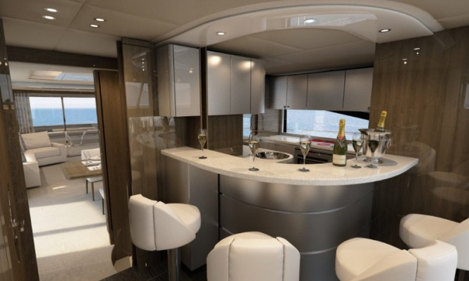First Sunseeker 86 Yacht - Bar