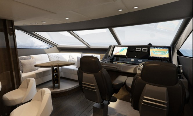 First Sunseeker 86 Yacht - Wheelhouse