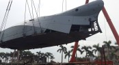 First expedition yacht Bering 80 under construction - Photo credit to Bering Yachts